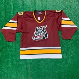 Vintage 90s Chicago Wolves NHL Hockey Jersey